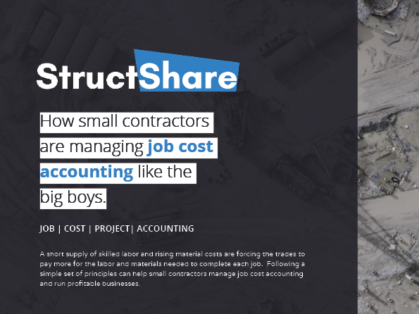 How small contractors are managing job cost accounting like the big boys.