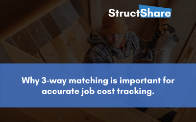 Why 3-way matching is important for accurate job cost tracking.