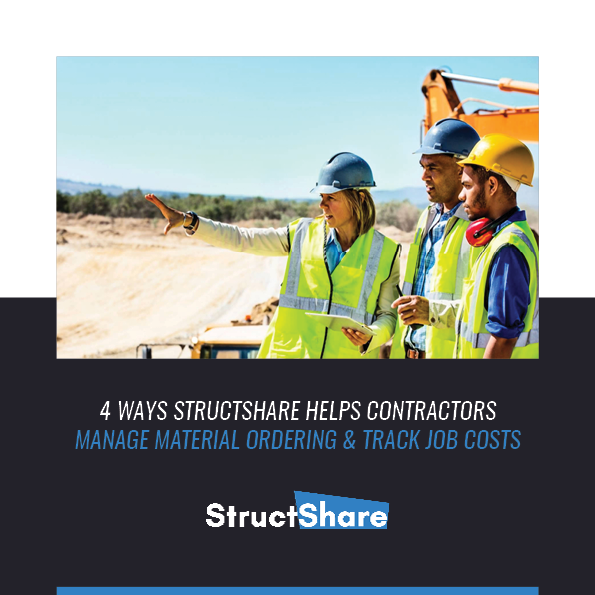 4 Ways StructShare helps contractors manage material ordering and track job costs.
